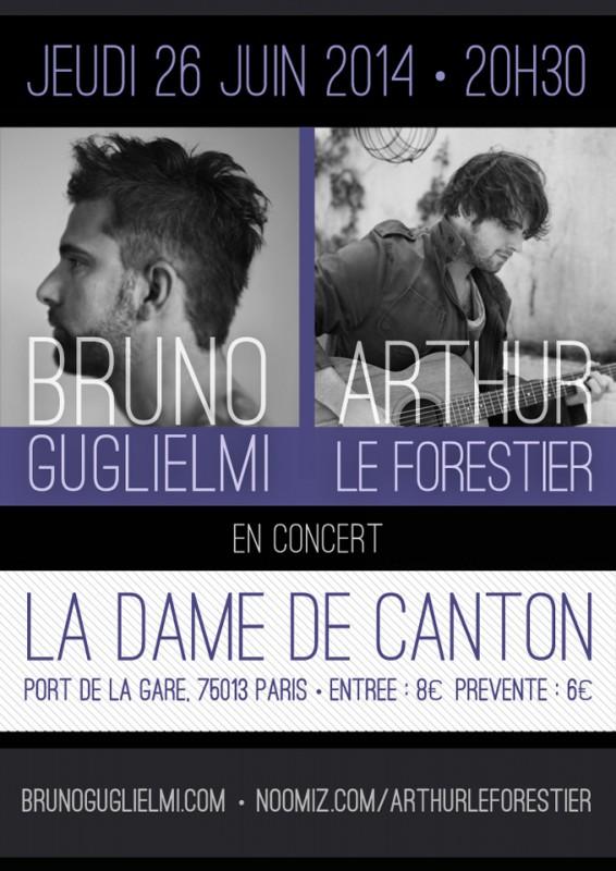 Concert Guglielmi / Arthur Le Forestier - La Dame de Canton