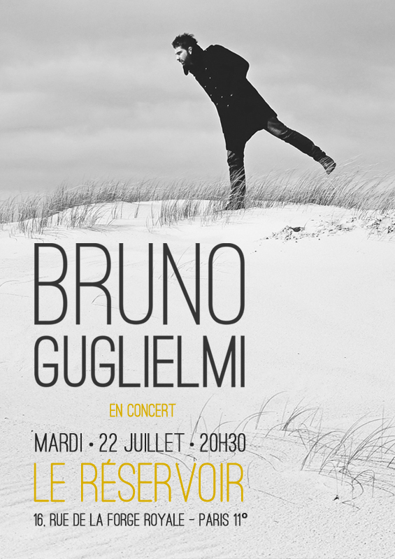 Concert Bruno GUGLIELMI - Le Réservoir